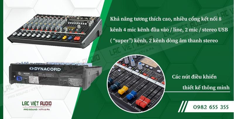 Tính năng và ứng dụng tiêu biểu củabàn mixer dynacord CMS600