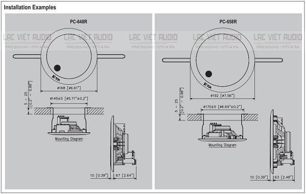 Catalouge loa âm trần TOA PC 648R