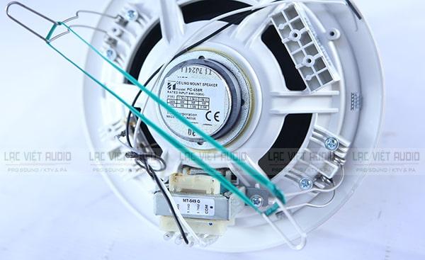 Loa âm trần Toa PC 658R có móc kẹp chắc chắn dễ sử dụng