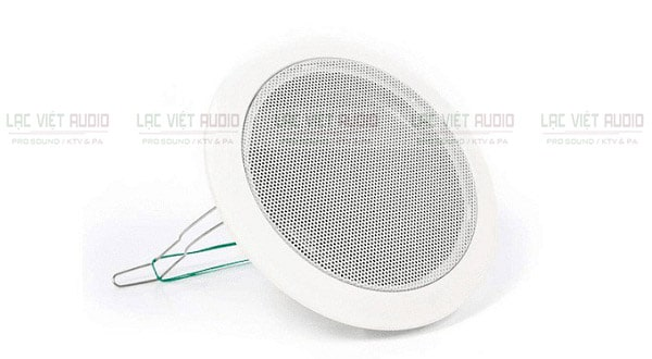 Loa âm trần TOA PC 648R dễ dàng kết hợp với các thiết bị âm thanh khác