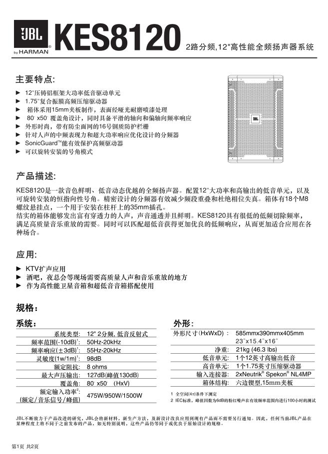Thông số kỹ thuật sản phẩm của nhà sản xuất