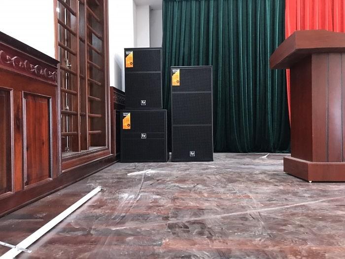 Loa hội trường sân khấu trong bộ dàn 95 triệu được nhập khẩu chính hãng đầy đủ Co, Cq