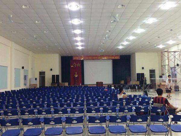 Dàn âm thanh sân khấu 100 triệu được lắp cho UBND Điện Biên