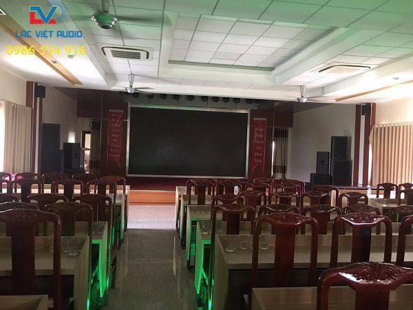 Dàn âm thanh sân khấu 90 triệu được lắp cho 1 bệnh viện trên địa bàn tỉnh Phú Thọ