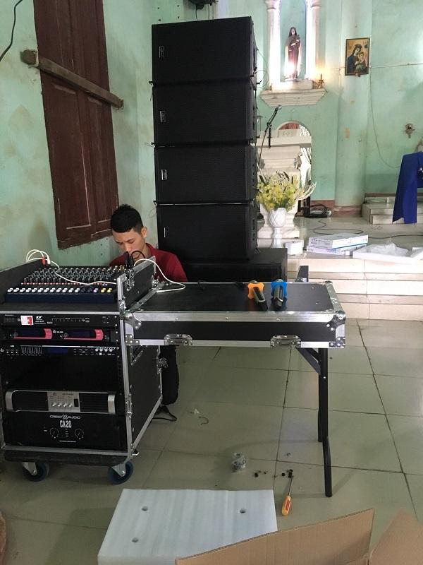 KTV Công ty cổ phần đầu tư và xuất nhập khẩu Audio Lạc Việt đấu nối thiết bị
