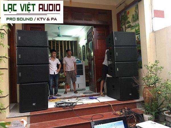 Dàn âm thanh sân khấu ngoài trời cho khách hàng anh Tuyên - Bắc Ninh