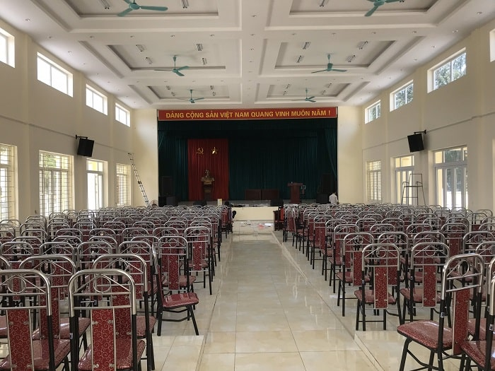 Bàn giao, hướng dẫn sử dụng bộ dàn âm thanh cho hội trường