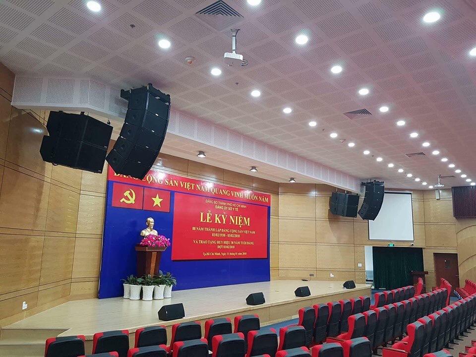 Dàn loa array cho hội trường sân khấu Đ/Ủy S/Tế TP.HCM