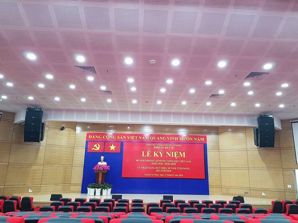Hệ thống âm thanh phục vụ nhiều mục đích trong hội trường sân khấu