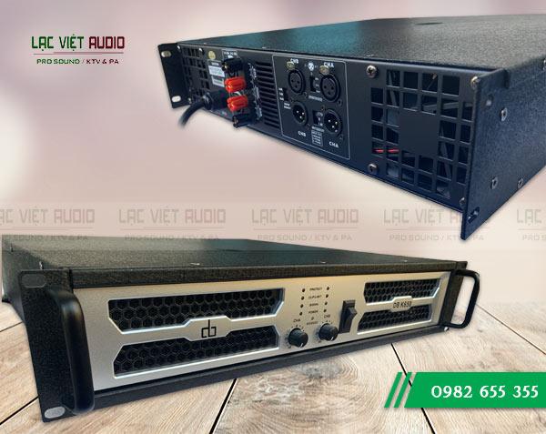 Mặt trước và mặt sau Cục đẩy công suất DB K650 - Lạc Việt Audio