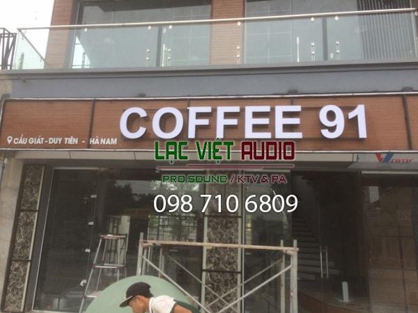 Quán cafe 91 của anh Bá tại Duy Tiên, Hà Nam