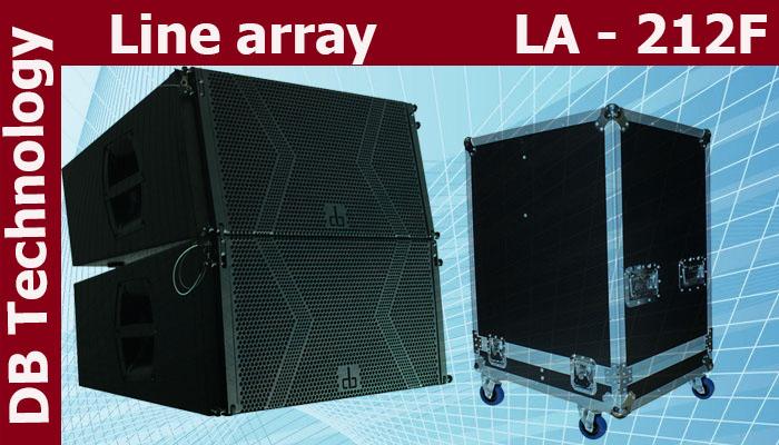 Loa array DB LA212F có thiết kế nhỏ gọn bắt mắt