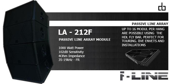 Thông số loa array DB LA-212F