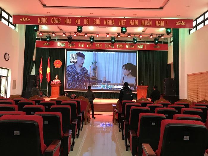 Dàn âm thanh hội trường mức đầu tư 200 triệu được lắp đặt thực tế ở UBND huyện Chi Lăng