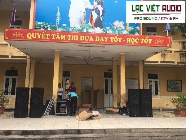 Dàn âm thanh sân khấu ngoài trời cho trường tiểu học