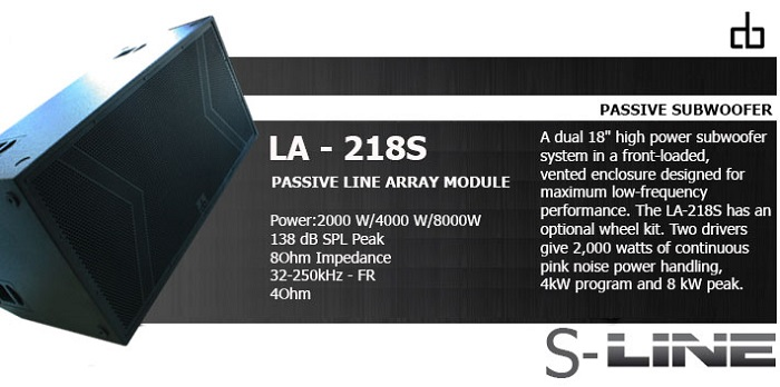 Loa subwofer DB LA-218S