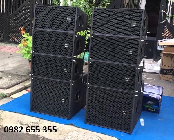Dàn loa array sau khi lắp ráp bass với vỏ thùng loa array
