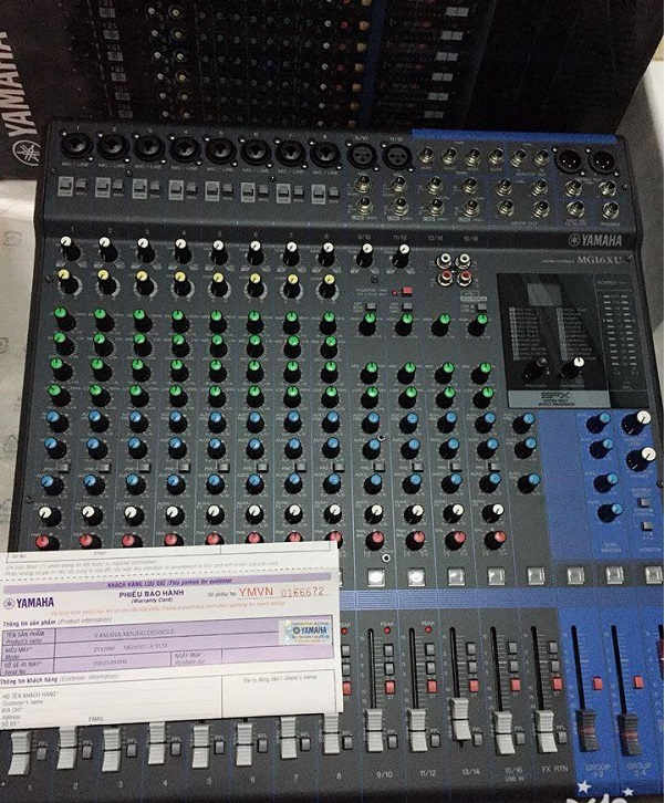 Slider Bàn mixer Yamaha MG16XU