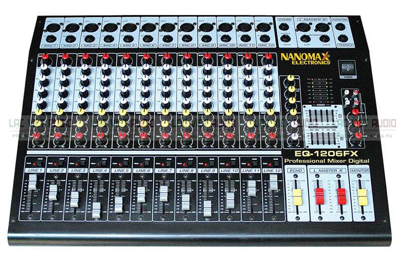 Bàn mixer Nanomax trong bộ âm thanh hội trường