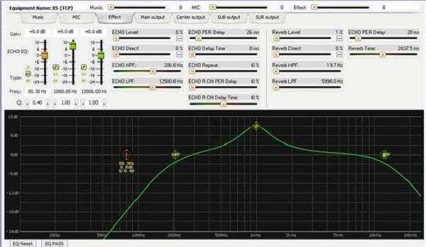 Tinh chỉnh âm thanh Đầu vang số karaoke X5 trên máy tính