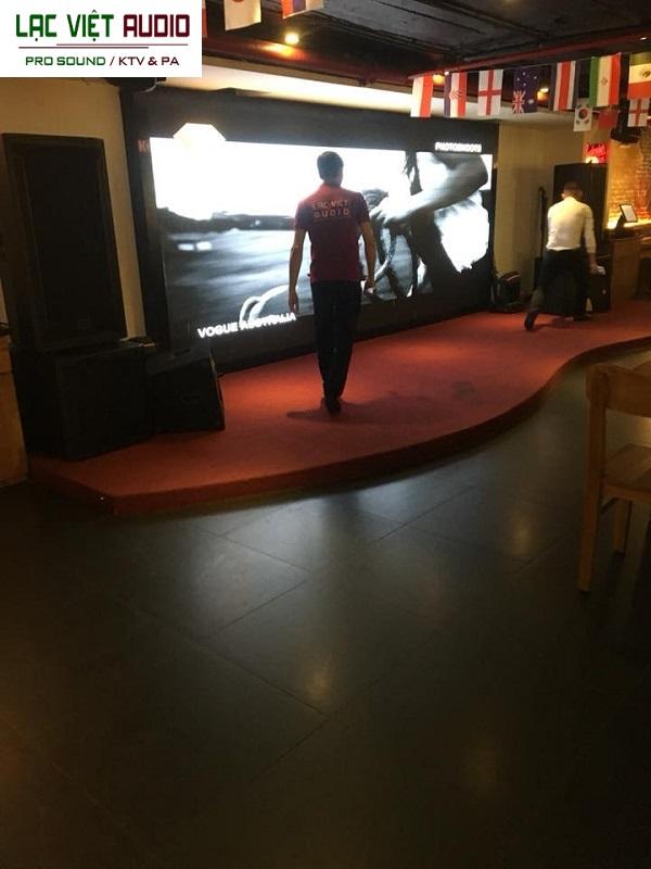 Cung cấp dàn âm thanh sân khấu cho nhà hàng Center Hà Đông