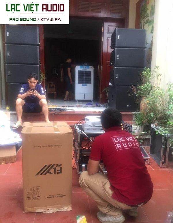 Hệ thống âm thanh sân khấu do Lạc Việt lắp đặt