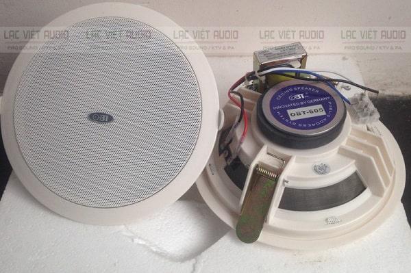Loa âm trần OBT 605 có thiết kế đẹp mắt, gọn nhẹ