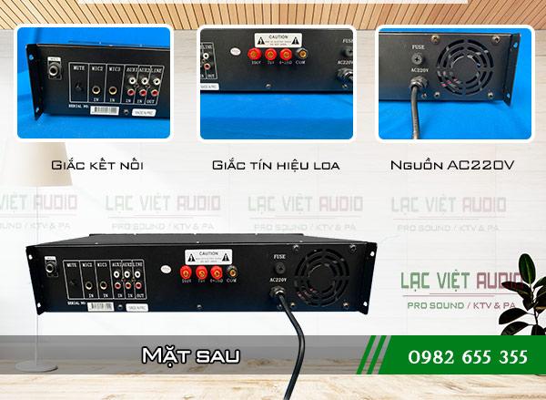 Cấu tạo mặt sau Amply DB LP 150F Lạc Việt Audio