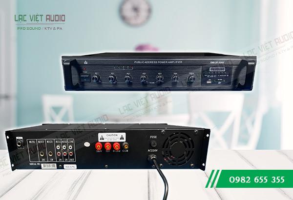 Mặt trước và mặt sau của Amply DB LP 150F Lạc Việt Audio