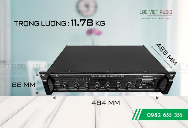 Kích thước Amply DB LP 150F Lạc Việt Audio
