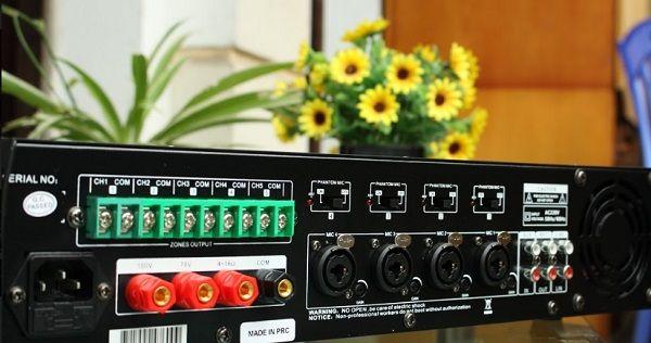 Amply DB LP 100T thiết kế là amply chọn 5 vùng loa công suất 100W