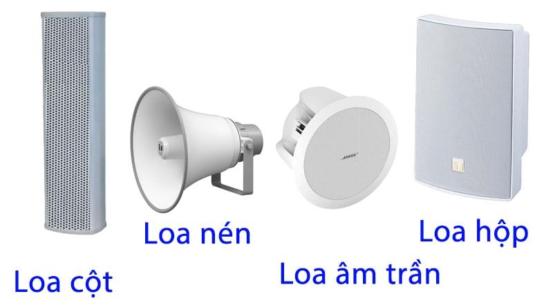 Các loại loa cho âm thanh nhà xưởng