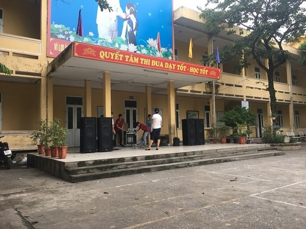 Cung cấp âm thanh cho sân trường trường học trên địa bạn Hà Nội