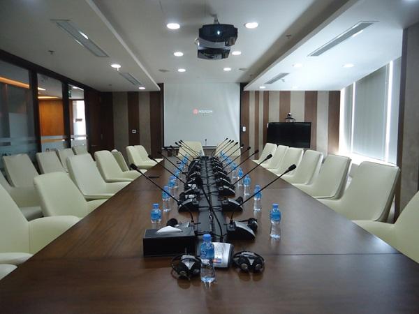 Dự án cung cấp hệ thống âm thanh hội trường họp họp công ty Bốn Mùa Group