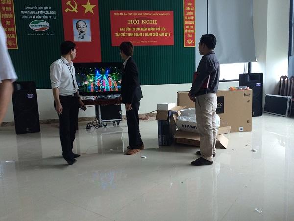 Dự án cung cấp âm thanh cho tập đoàn quân đội Viettel - Láng Hòa Lạc