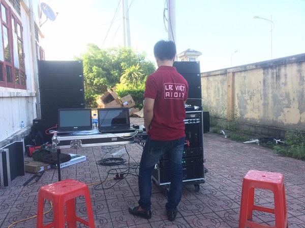 Cung cấp hệ thống âm thanh cho ủy ban nhân dân huyện Diễn Châu - Nghệ An