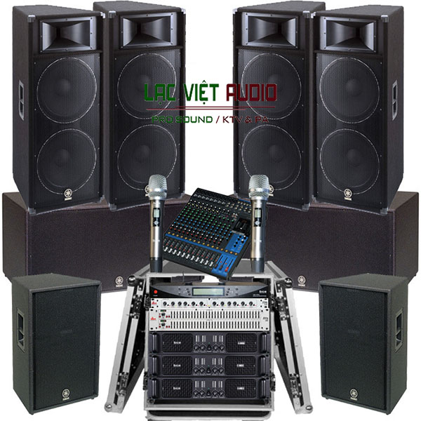 Trọn bộ cấu hình dàn âm thanh sân khấu Yamaha