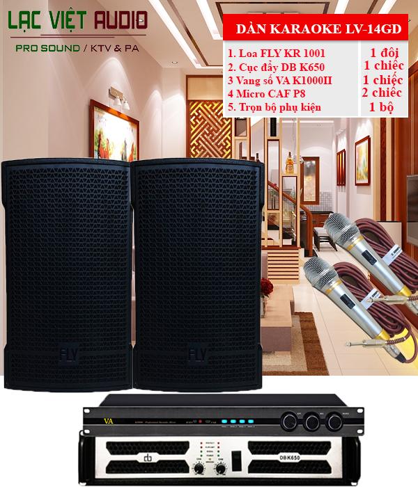Dàn karaoke gia đình giá rẻ LV-14GD