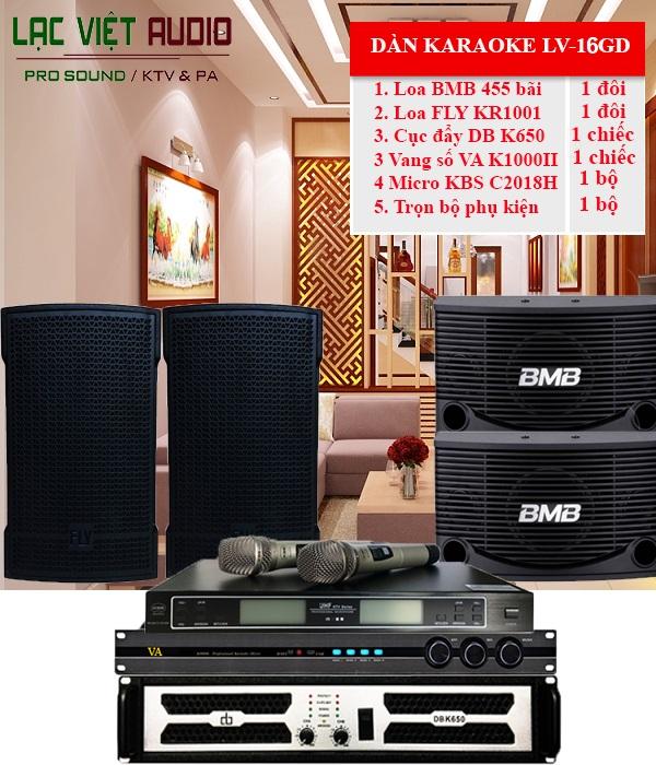 Combo dàn karaoke gia đình cao cấp LV-16GD