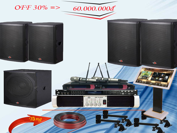 Combo dàn karaoke 60 triệu LV-18GD