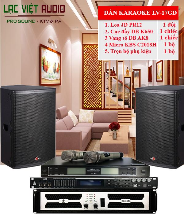 Combo dàn karaoke gia đình LV-17GD