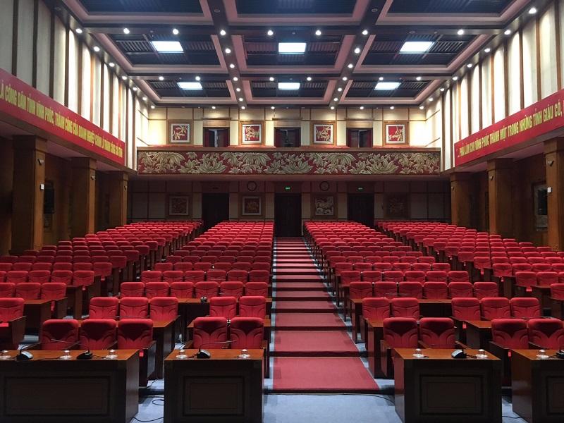 Lạc Việt Audio cung cấp hệ thống âm thanh phòng họp cho trung tâm hội nghị tỉnh