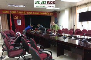 Hệ thống âm thanh phòng họp bosch cho trường Quân Sự