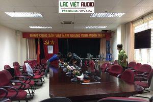Hệ thống âm thanh phòng họp bosch cho trường Quân Sự Sơn Tây