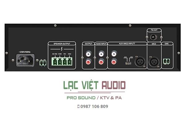 Mặt sau amplifier MP60U