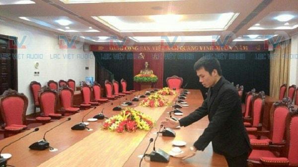 Lắp đặt âm thanh phòng họp cho tỉnh Ủy Yên Bái