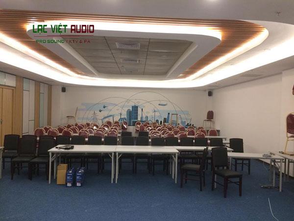 Lắp đặt hệ thống âm thanh phòng họp cho công ty mỹ phẩm Thiên Hương