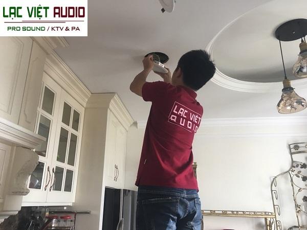 Lắp đặt loa âm trần tại Lạc Việt Audio