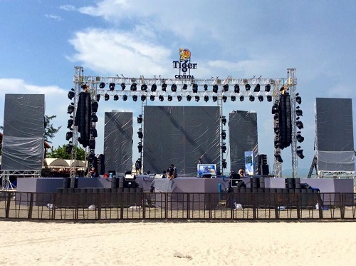 Setup loa sân khấu