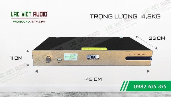 Kích thước của Đầu karaoke BTE S650 4TB